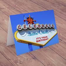 personalised card las vegas birthday gettingpersonal co uk