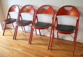 Stakmore Folding Chairs Vintage Naugahyde Picked Vintage