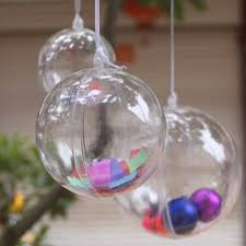 clear plastic fillable ornament baubles pack of