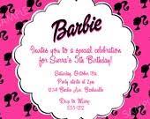 the 25 best barbie birthday invitations ideas on pinterest