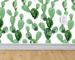 self adhesive removable wallpaper cactus wallpaper peel and