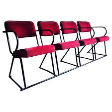 chaise de cin ma chaise de cinéma vintage quatre places en vente sur pamono