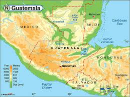 geographical map of guatemala latinamericarmj guatemalageography