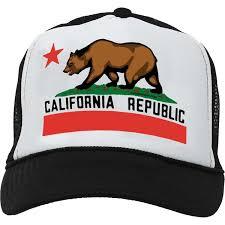 California Republic Flag Amazon Com California State Flag Snapback Mesh Truckers Cap