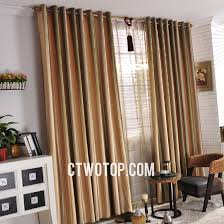 cheap orange and green striped french country curtains style