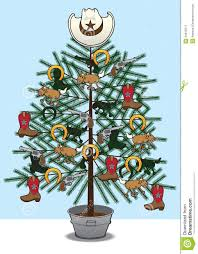 christmas jeep clip art christmas tree decorated with various western themed items such as