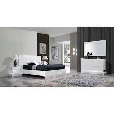 chambre laqué blanc chambre adulte contemporaine laque blanc strato meubles elmo