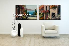 Living Room Paintings 2 Piece Colorful Canvas City Oil Paintings Wall Art