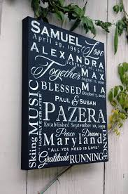 personalized 16x20 family name word collage on canvas custom