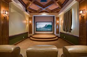 home theater decorating ideas mediterranean picture