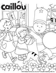 caillou coloring pages lupi u0027s friends caillou