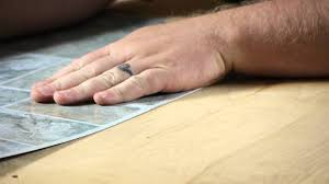 Can You Lay Tile Over Laminate Flooring How To Lay Self Adhesive Vinyl Tiles Working On Flooring Youtube