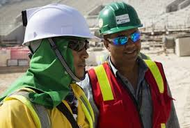 hat with fan built in qatar workers get air conditioned hard hats construction manager