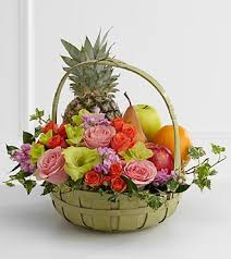 fruit flowers baskets the ftd rest in peace fruit flowers basket s56 4572 sympathy