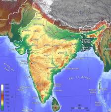 geography map map of india