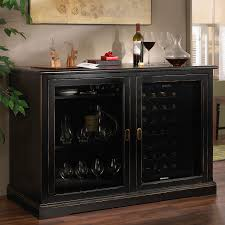 siena mezzo wine credenza nero with two wine refrigerators