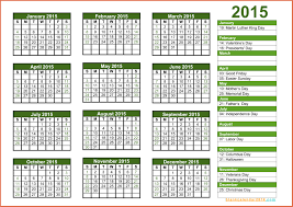 printable 2015 calendar with holidays bio exle