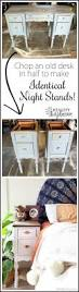 take an old desk apart to make two identical night stands