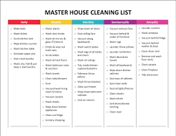 complete housekeeping printable set price list house and cleaning
