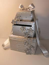 wedding gift card box silver wedding card box gift card box money box by bwithustudio