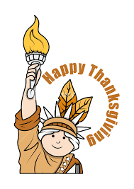 thanksgiving day statue of liberty character vector royalty free