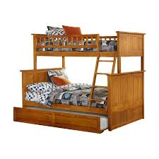 Bunk Beds Twin Over Full With Desk Shop Atlantic Furniture Nantucket Carmel Latte Twin Over Full Bunk