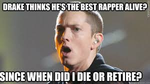 Rap Battle Meme - 22 things more likely to happen than drake beating eminem in a rap