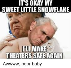 Poor Baby Meme - its okay my sweet little snowflake ill make theaters safeagain awwww