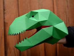make your own t rex hand puppet with just paper and glue