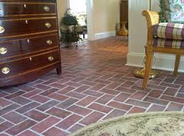 brick floor tile and style in modern home