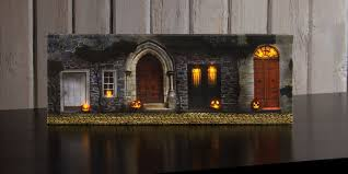 radiance lighted canvas small halloween front door with jack o