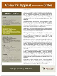 americas happiest states 2013 quality of life happiness u0026 self