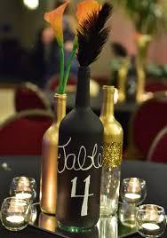 gold wine bottle table numbers set of 10 gold glittery wine bottle by itsagatsbywedding on etsy