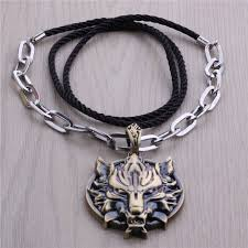 anime necklace images Hot game final fantasy 7 vii ff cool wolf head anime necklace men jpg