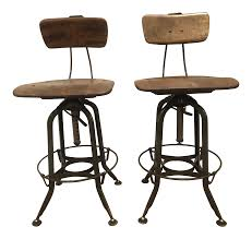 Drafting Chair Ikea Toledo Adjustable High Back Bar Stools A Pair Chairish