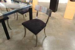 design institute america steel klismos dining table u0026 chairs