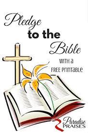 pledge to the bible free printable