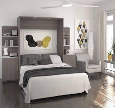 Wall Bed by Nebula By Bestar Queen Wall Bed In Bark Gray Assembly 25184 Msexta