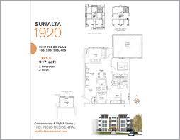 Unit Floor Plans Sunalta 1920 U2014 Highfield Residential Calgary Real Estate