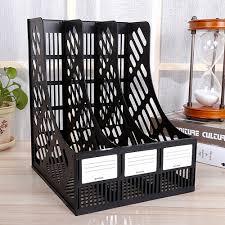 file holder for desk 3 unites plastic a4 file documents paper storage trays desk racks