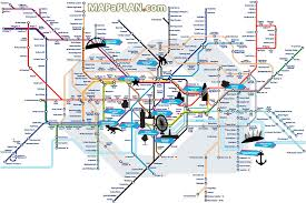 London Maps London Top Tourist Attractions Map Tube With Points Of Interest