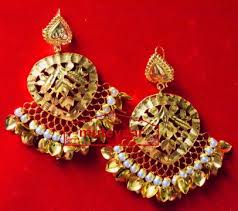 lotan earrings made 24 ct gold plated traditional punjabi jewellery