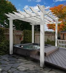 Backyard Arbors Vinyl Pergola Kits Spaces Traditional With Backyard Pergola