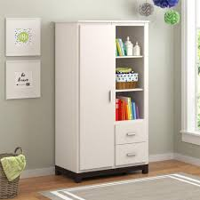 White Self Assembled Bedroom Furniture Sauder Palladia Select Cherry Armoire 411843 The Home Depot