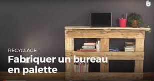 bureau palette bois fabriquer un bureau en palette recycler