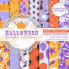 thanksgiving scrapbook paper thanksgiving paper pack halloween scrapbook purple orange pumpkin