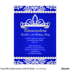 My Birthday Invitation Card Royal Blue Quinceanera 15th Birthday Party Tiara 4 5x6 25 Paper