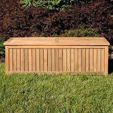 Outdoor Storage Box Bench Holley 5 Ft Teak Outdoor Storage Box Outdoor