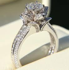 flower engagement rings diamond flower rings and things unique flower engagement ring