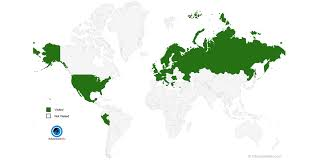 countries visited map map of countries i visited